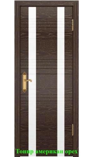 Дверь Лайн-2 лакобель белый ДО DioDoor