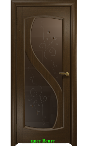 Дверь Диона-2 стекло бронзовое Лилия ДО DioDoor