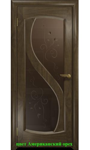 Диона-2 стекло бронзовое Лилия ДО DioDoor