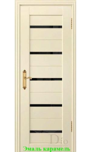 Дверь Техно-1 триплекс черный ДО DioDoor