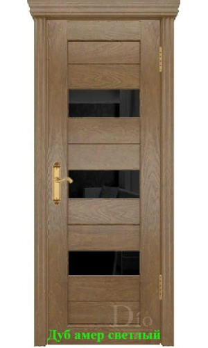 Дверь Техно-3 триплекс черный ДО DioDoor