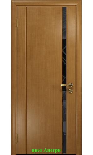 Дверь Триумф-1 триплекс черный 3D куб ДО DioDoor