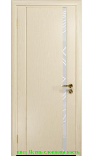 Дверь Триумф-1 триплекс белый 3D куб ДО DioDoor