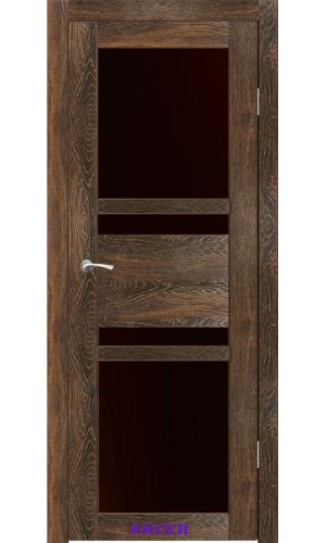 Дверь Титул стекло Лакобель черный ДО Synergy