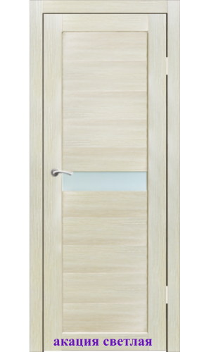 Дверь Примо стекло Сатин белый ДО Synergy