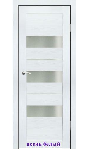 Дверь Дельта стекло Сатин белый ДО Synergy
