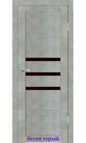 Дверь Грация стекло Лакобель черный ДО Synergy
