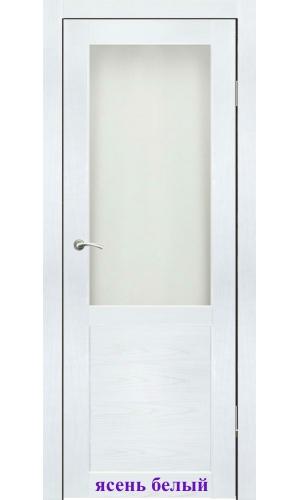 Дверь Венеция стекло Сатин белый ДО Synergy