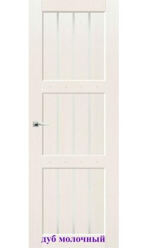 Дверь Деревенская стекло Сатин белый ДО Synergy