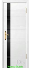 Дверь Лайн-1 лакобель черный ДО DioDoor