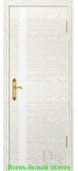 Дверь Лайн-1 лакобель белый ДО DioDoor