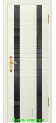 Дверь Лайн-2 лакобель черный ДО DioDoor
