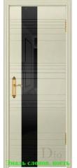 Дверь Лайн-3 лакобель черный ДО DioDoor