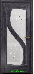 Диона-2 стекло белое Лилия ДО DioDoor