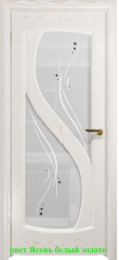 Дверь Диона-2 стекло белое Капля ДО DioDoor