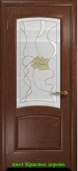 Дверь Ровере стекло витраж Соната ДО DioDoor