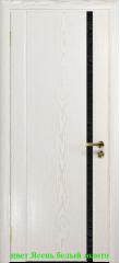 Дверь Триумф-1 триплекс черный с тканью ДО DioDoor