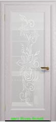 Миланика-1 стекло белое ДО DioDoor