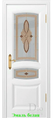 Дверь Сантанелла  светлое витраж стелла ДО DioDoor
