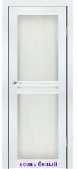 Дверь Лацио2 стекло Сатин белый ДО Synergy