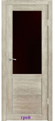 Дверь Венеция стекло Лакобель черный ДО Synergy